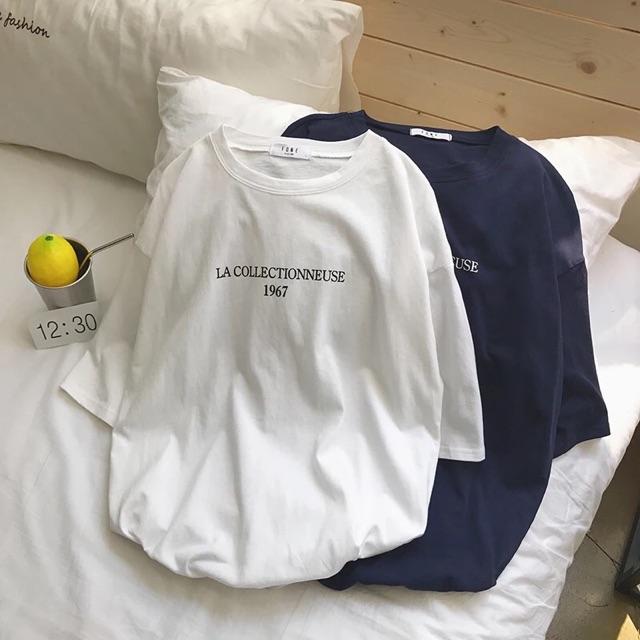 【M~2XL】Men Clothes Korean Short Sleeve T Shirt 旋律风车t恤男短袖圆领潮流新款夏季韩版印花宽松半袖体恤薄