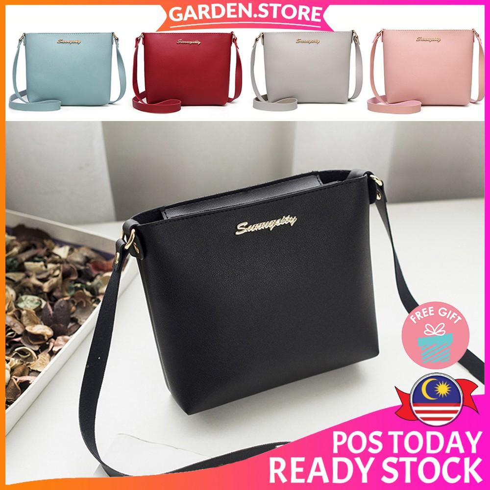 f11eee3e695d 【READY STOCK + 🎁】Gs Fashion Top Seller Premium Pu Fashion Sling Bag  Handbag Wanita (Garden Store - 9226)