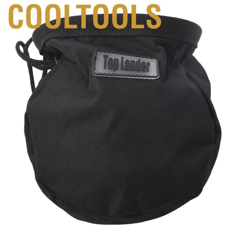Black Outdoor Rock Climbing Magnesium Powder Bag Storage Waist Belt Pouch
