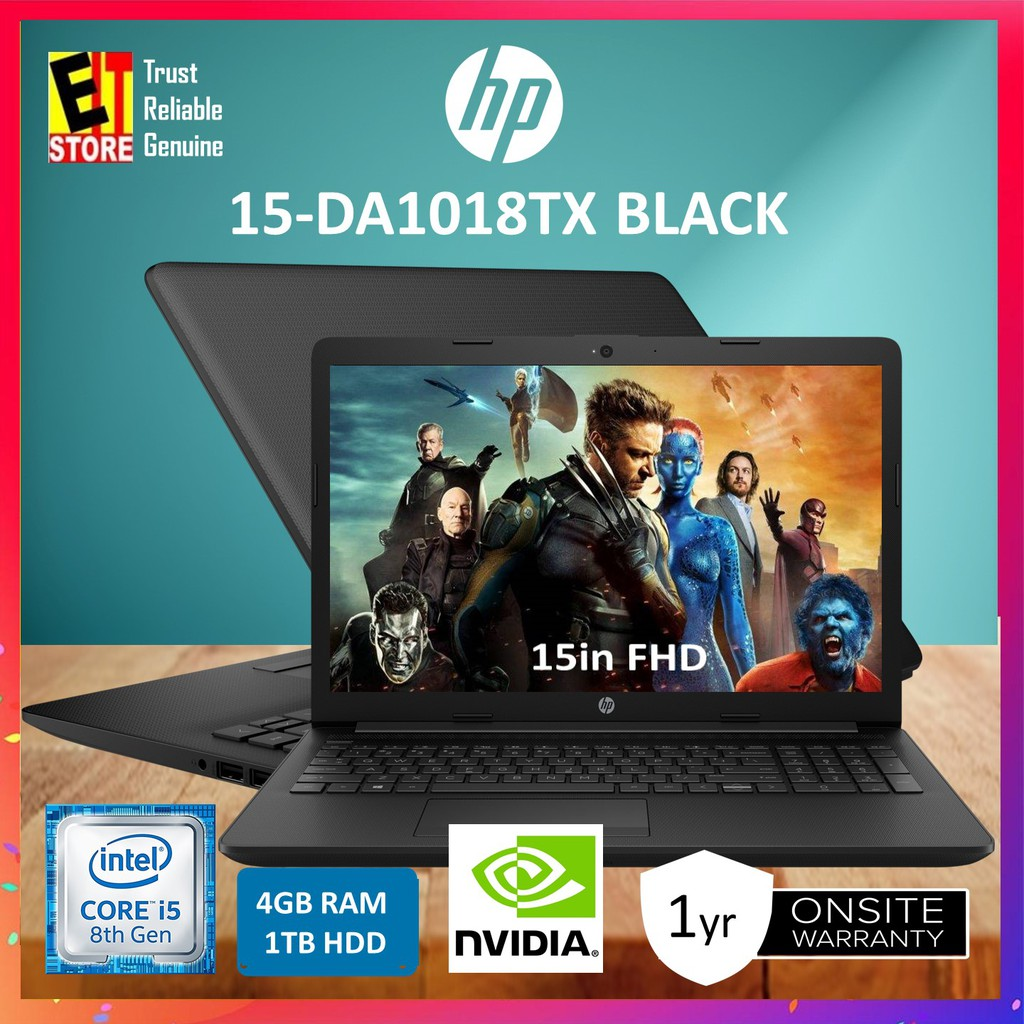 HP 15-DA1018TX BLACK (I5-8265U,4GB,1TB,DVDRW,15 6