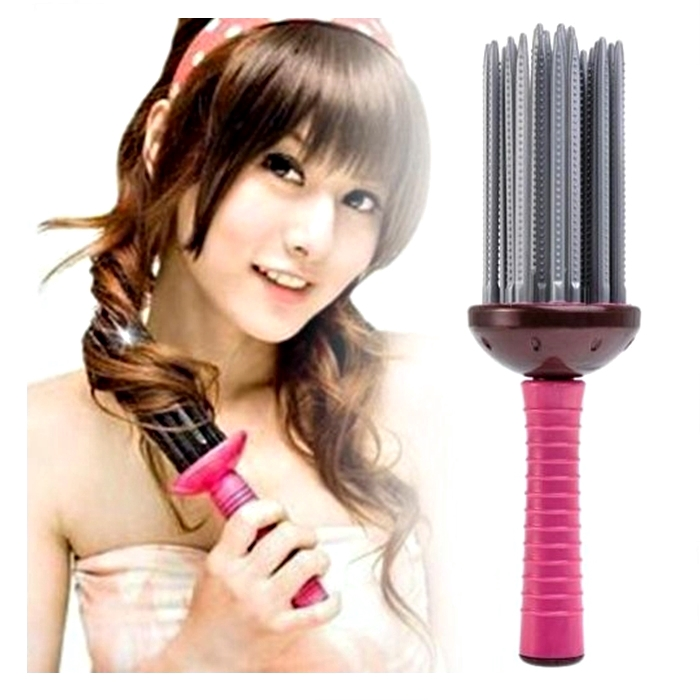 Airy Curl Brush Styler Tool Hair Comb Style DIY Curler Roller Tool DIY Wavy
