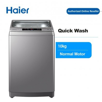 Haier HWM100-M826 10KG Washing Machine with Top Load , Fully Auto , Quick Wash