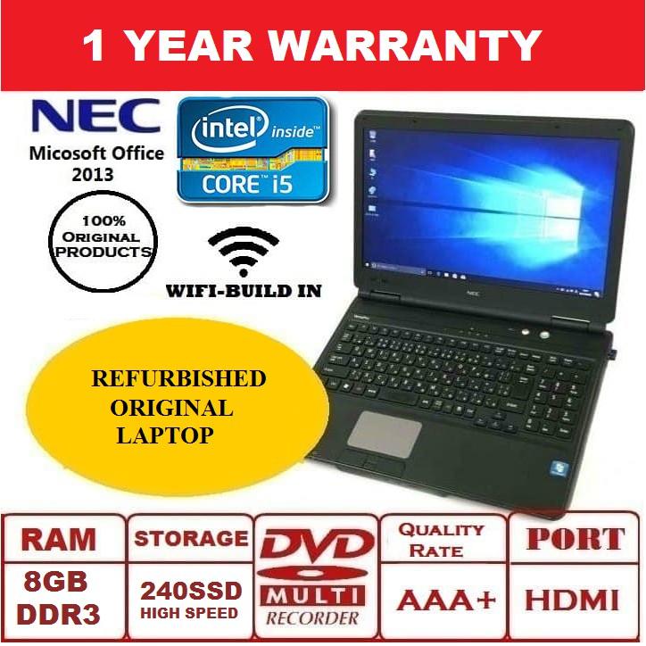 Refurbished Original Laptop NEC VersaPro (Intel(R) Core i5 Third Generation)