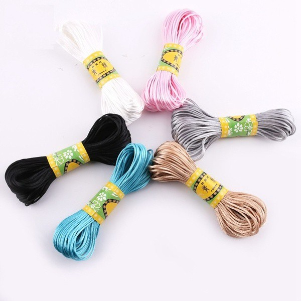 DIY Nylon Cords Pacifier Clip Teething Necklace Make Ropes Satin Jewelry Thread