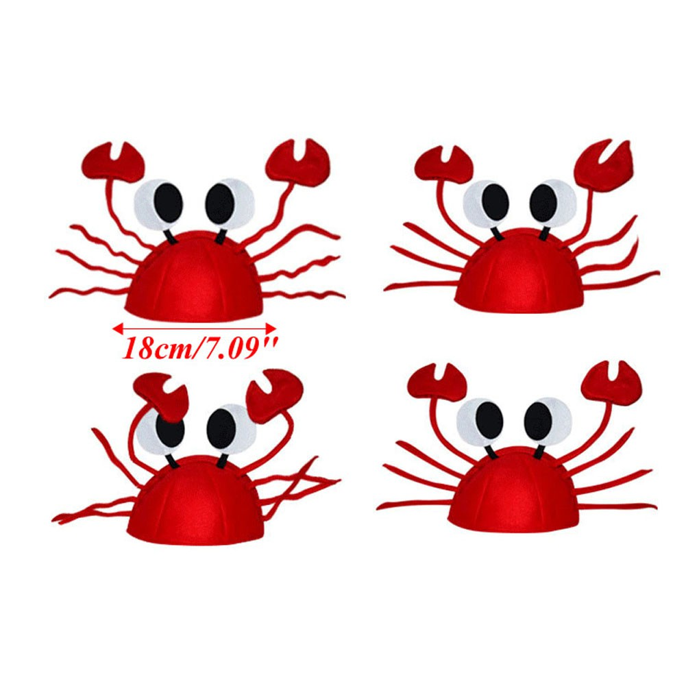 5ef799206ec Lobster Crab Sea Animal Hat Costume Accessory Halloween Adult Child Cap