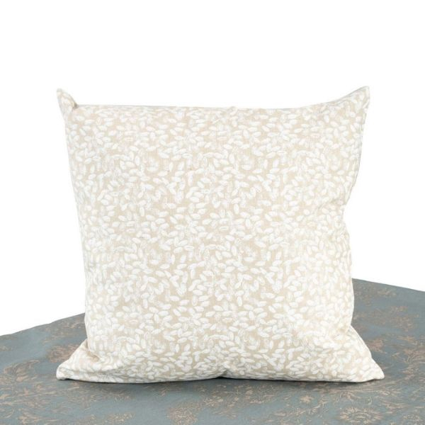 """Seed Coated Cushion Cover. Anti-Stain/Waterproof/Spill Proof Polylinen Coated With PU. 45x45cm/18x18"""". (Ecru)"""