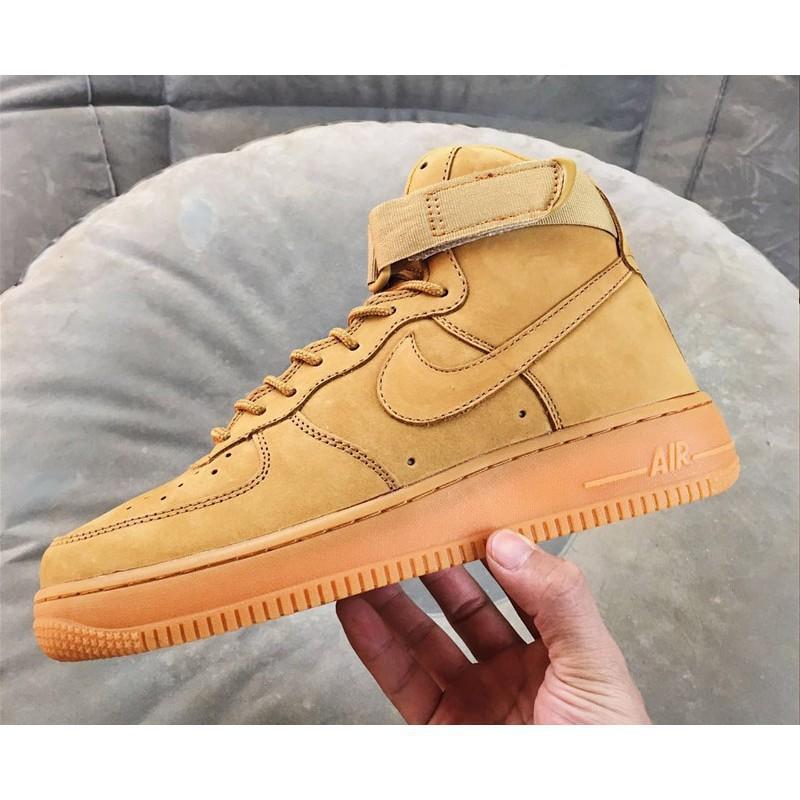 the latest 28eb0 12851 zhess original Nike Air Force 1 Mid Flax Wheat Mineral Yellow Classics