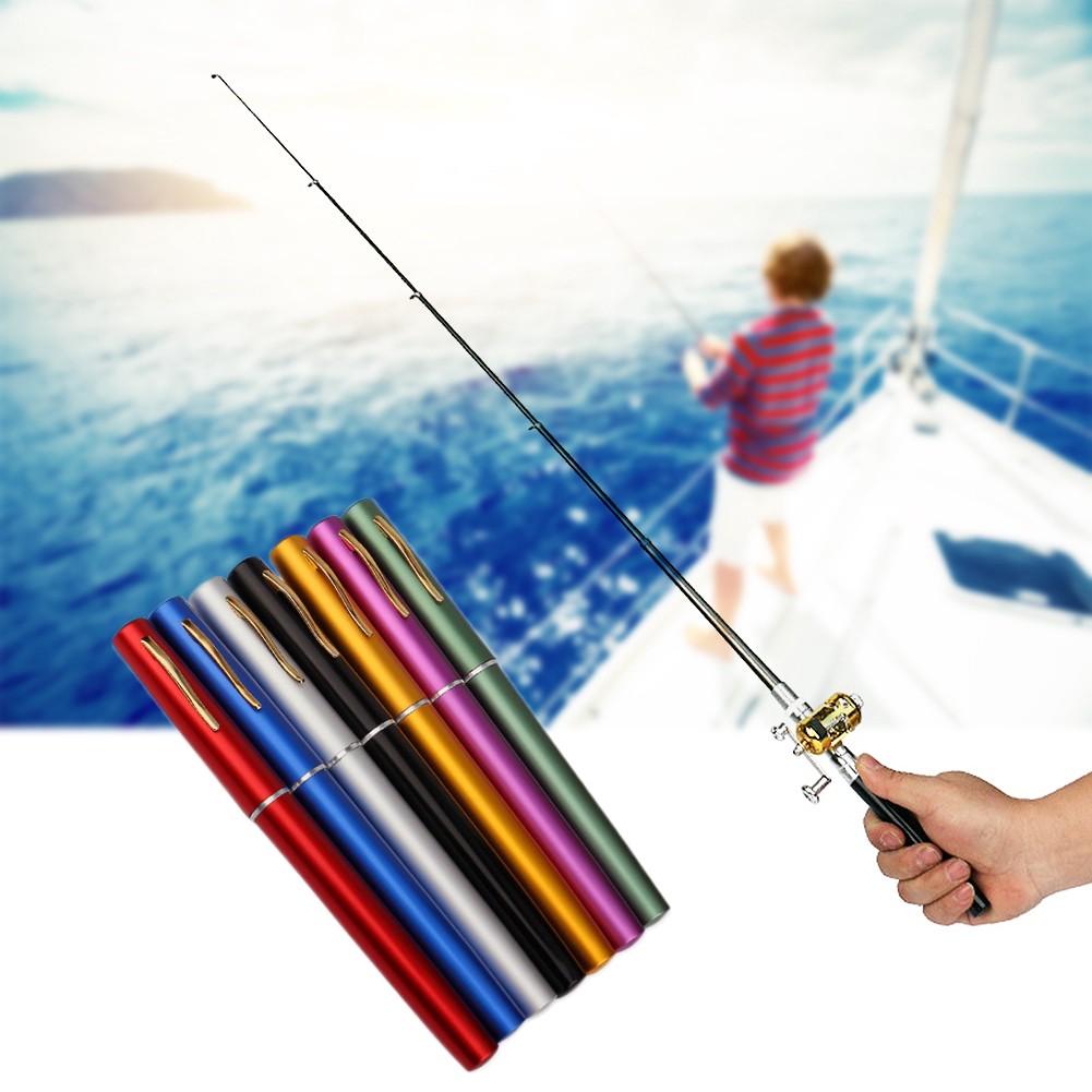 🚛Ready stock Local📦 CLEARANCE! Portable Handy Mini Pocket Aluminium Pen Fishing Rod Reel