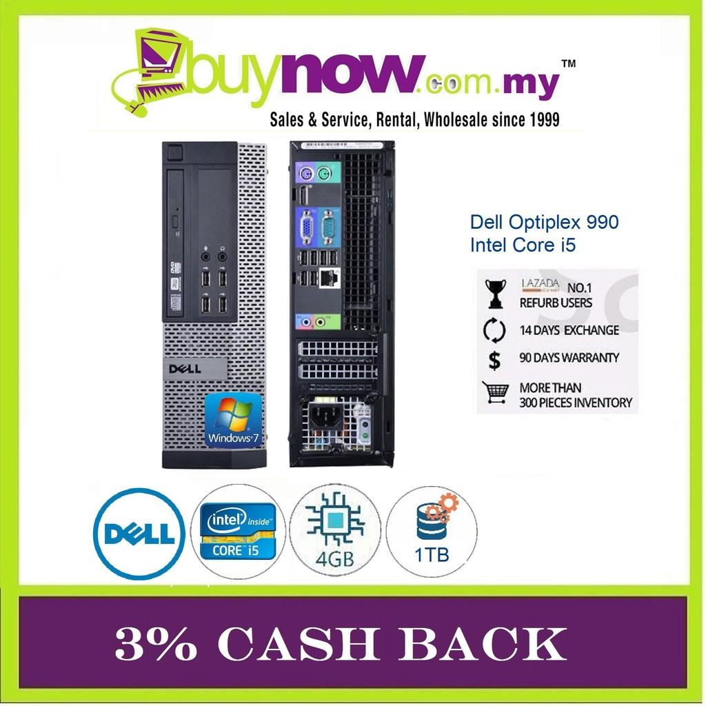 REFURBISHED DESKTOP DELL OPTIPLEX 990 CORE i5/4GB/1TB HDD/WIN 7 PRO/3% CASH  BACK