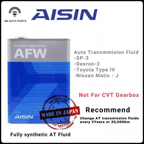 Aisin ATF Fluid Wide Range AFW - 4Liter Gear Oil / Transmission Fluid