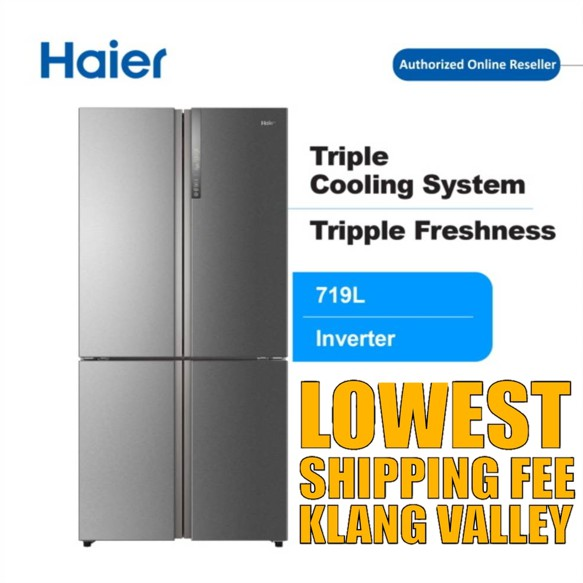 【Last Week Promo】Haier HTF-610DM7 719L 4 Door Refrigerator Fridge Peti Sejuk with DC Inverter Technology