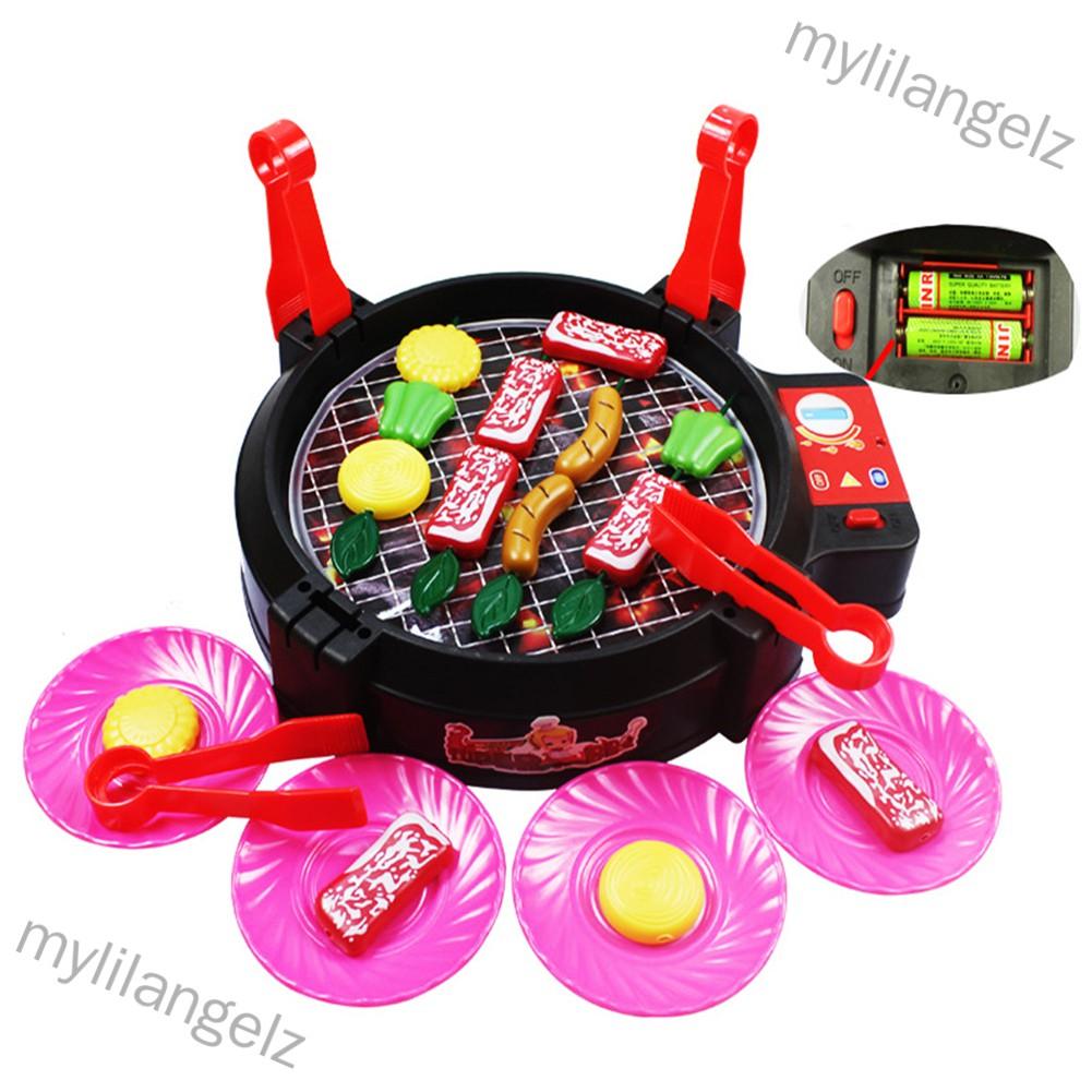 Mylilangelz Children Play House Game Toy BBQ Mini Fun Interactive Children's Kitchen Toy Set