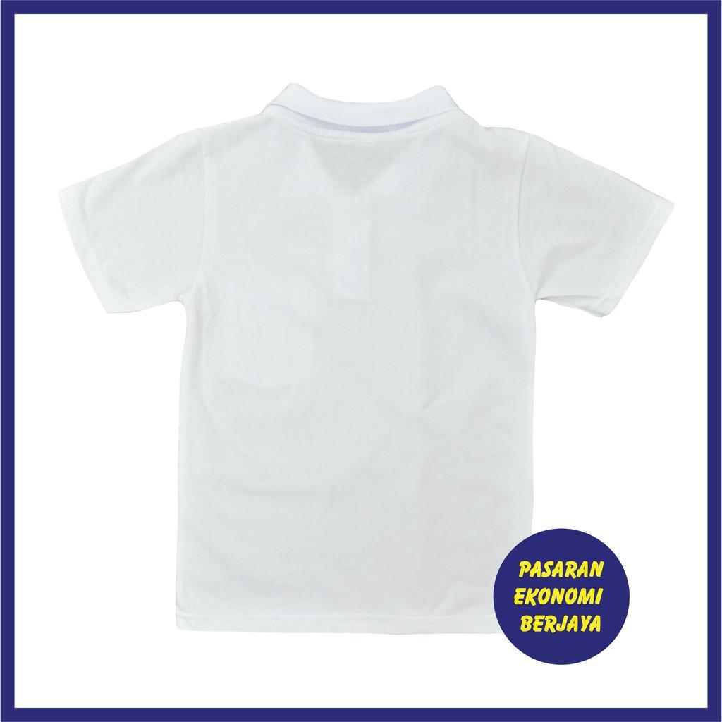 T Shirt Berkolar Lengan Pendek Putih Tshirt Putih White Shirt Tshirt Plain White Plain Baju Kosong Putih