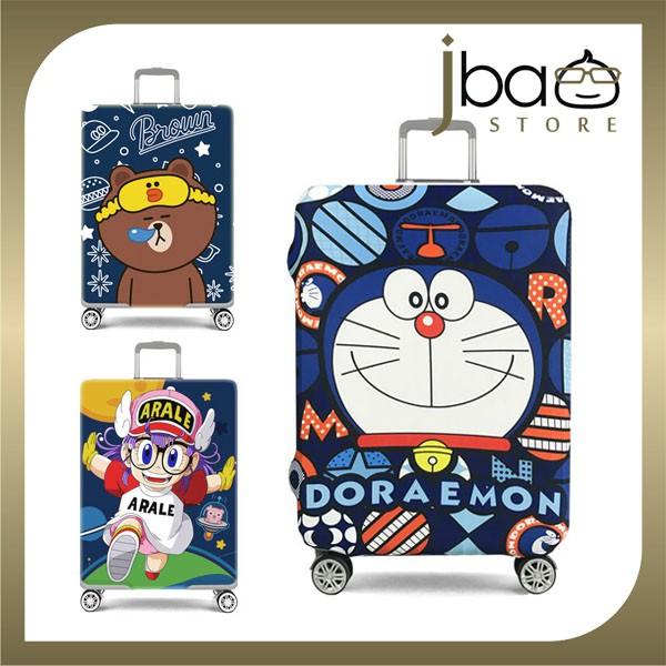 D.Beaner Elastic Luggage Protector Cover Doraemon Brown Arale