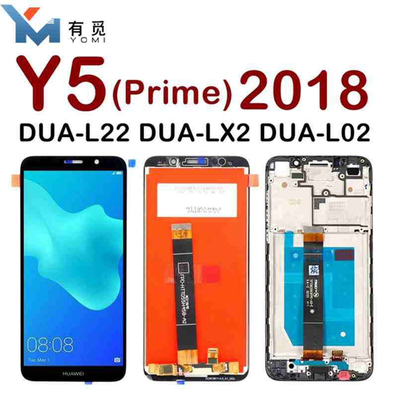 Huawei Y5 Prime 2018 LCD Display with Touch Screen For Y5 Prime 2018 LCD  With Frame DUA L02 L22 LX2 Screen replacement