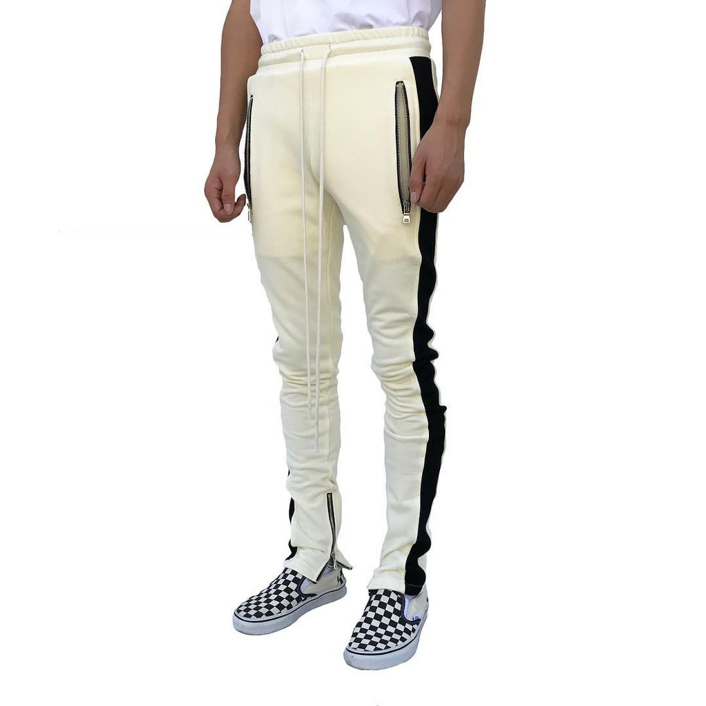 fantastic savings new fashionable and attractive package Men Casual Sport Pants Side Zipper Bottom Track Sweatpants Striped Joggers  Pants