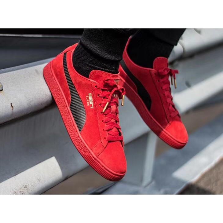 promo code b3b35 6275c original Ferrari x Puma Suede 50 Plate shoes Mens\Womens casual shoes