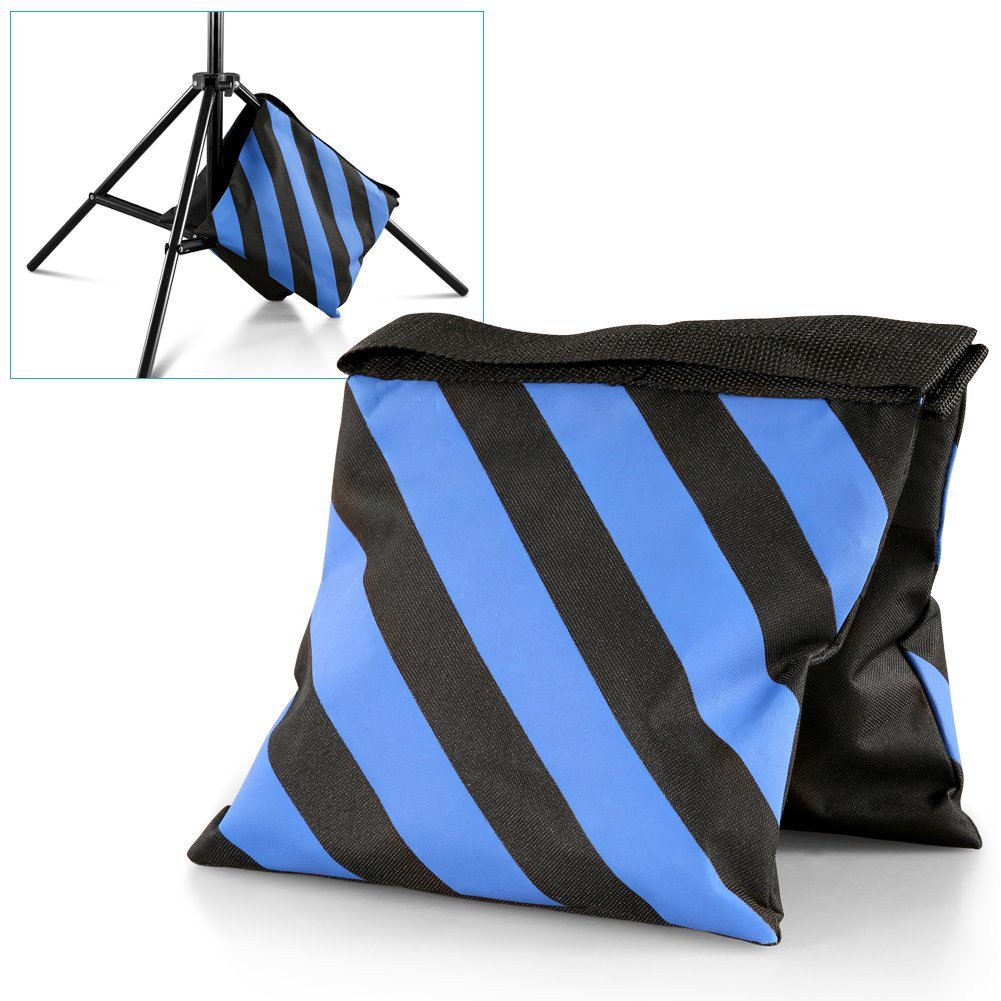 Neewer/® Set of Two Black//Blue Heavy Duty Sand Bag Photography Studio Video Stage Film Sandbag Saddlebag for Light Stands Boom Arms Tripods