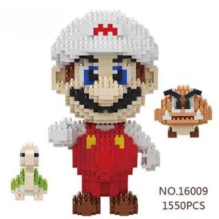 Balody Super Mario White Goomba Koopa Diamond Mini DIY Building Nano Block Toy