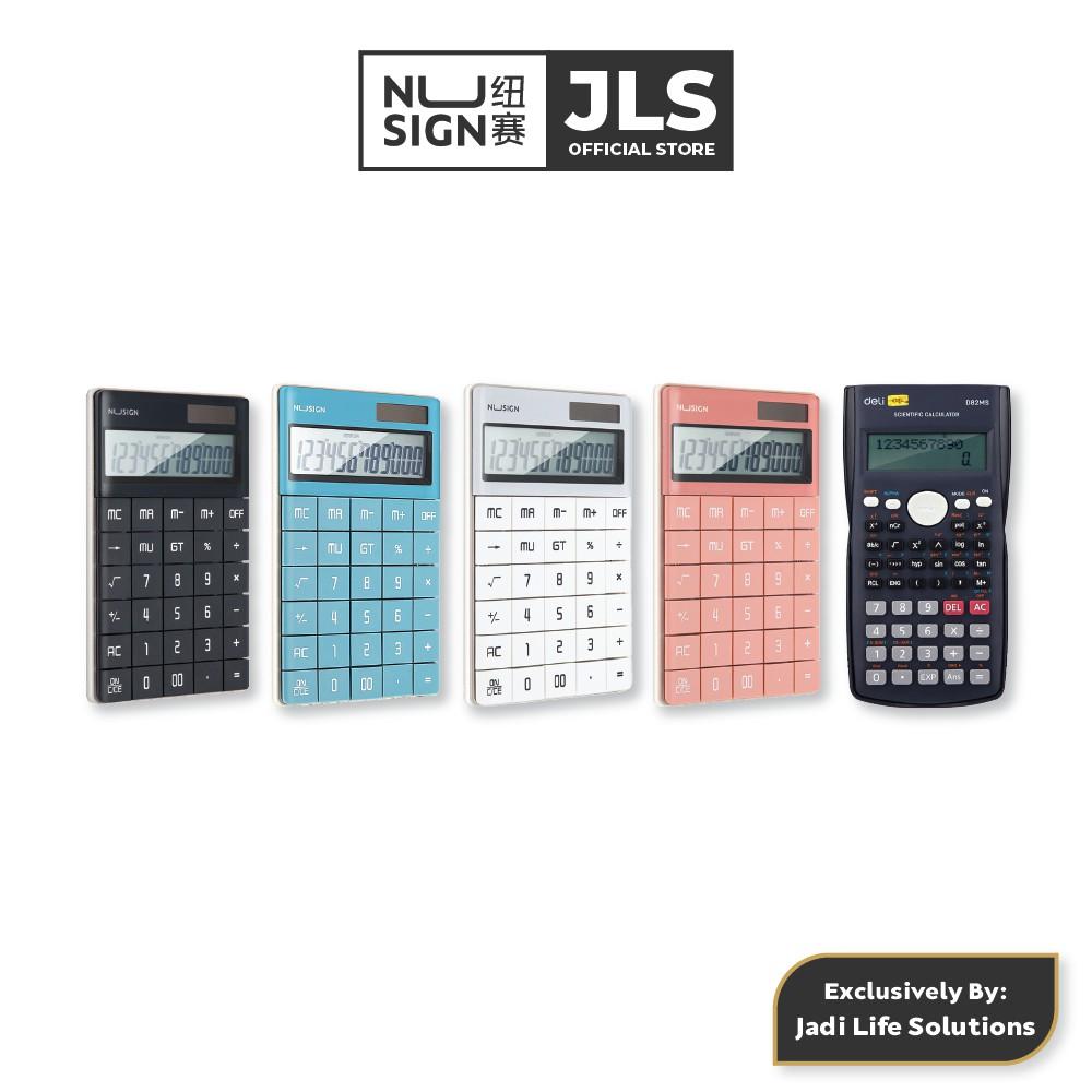 Jadi Nusign Grand Calculator Colour Set Variation with Jadi Deli 2-Line Display Scientific Calculator in Dark Blue