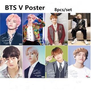 BTS Bangtan Boys V TaeHyung HD Poster 8 pcs/set   Shopee