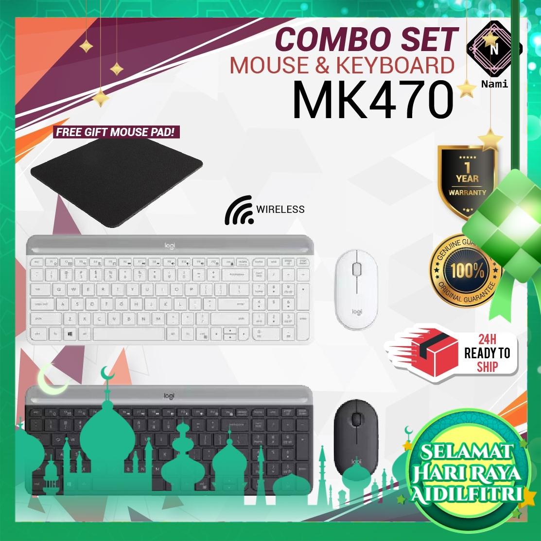 Logitech MK470 Slim Compact & Quiet Wireless Keyboard & Mouse Combo