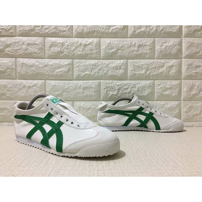 quality design f7117 57ddc ProductImage. Asics Mexico 66 Sneaky Tiger Lazy Canvas Shoes Women White  Green Men Casual Sneakers 36-44