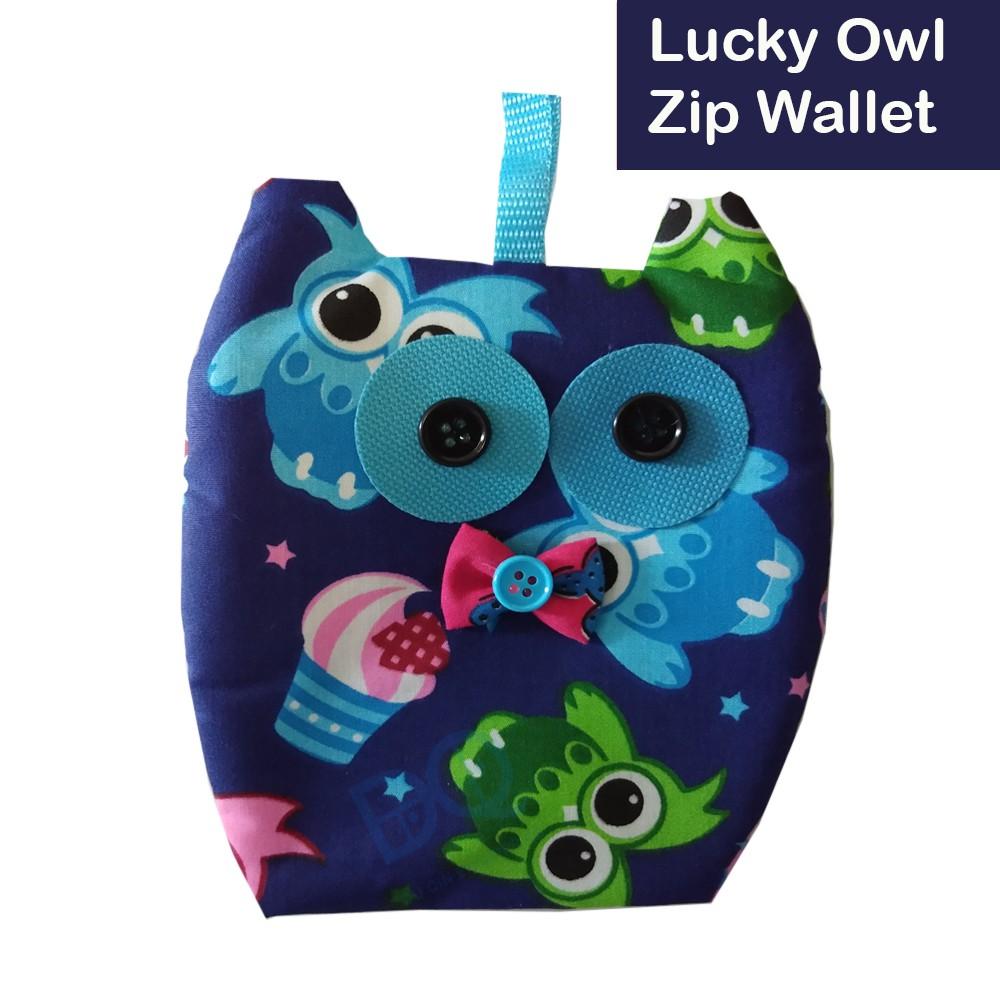 Cute Cartoon Owl Cotton Credit Card Business ID Card Holder Wallet Multi Pattern Women