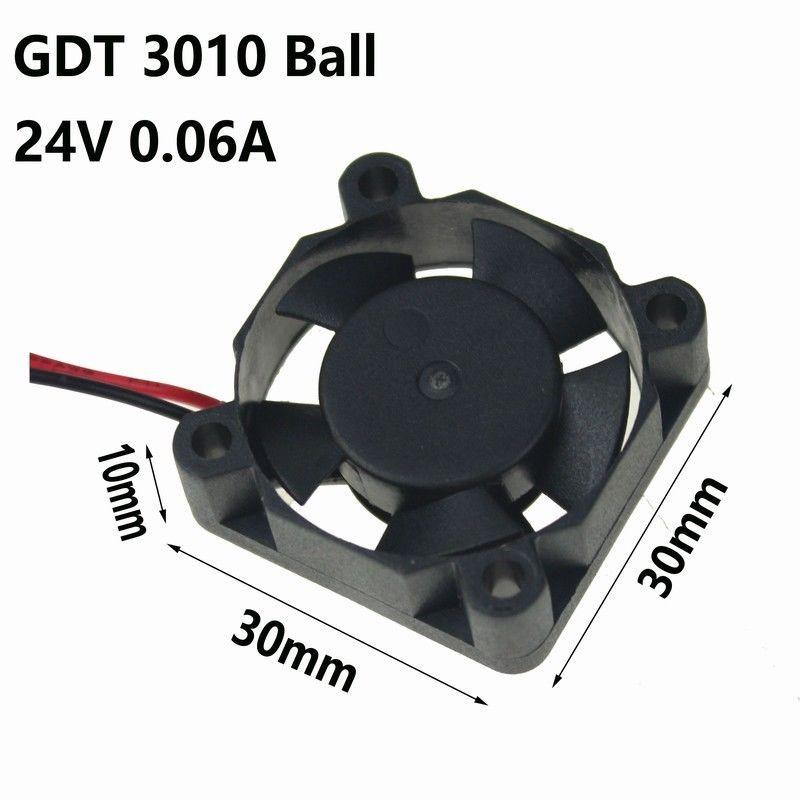 24V mini 3cm 30mm 30x30x10mm Brushless PC CPU Case Cooling Cooler Fan 2pin