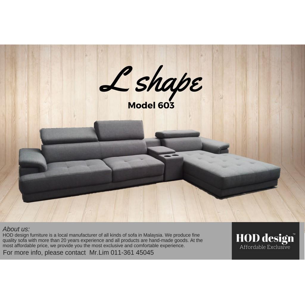 Babarra Barry L Shape Sofa Sofa 28029 4 Seater Shopee Malaysia