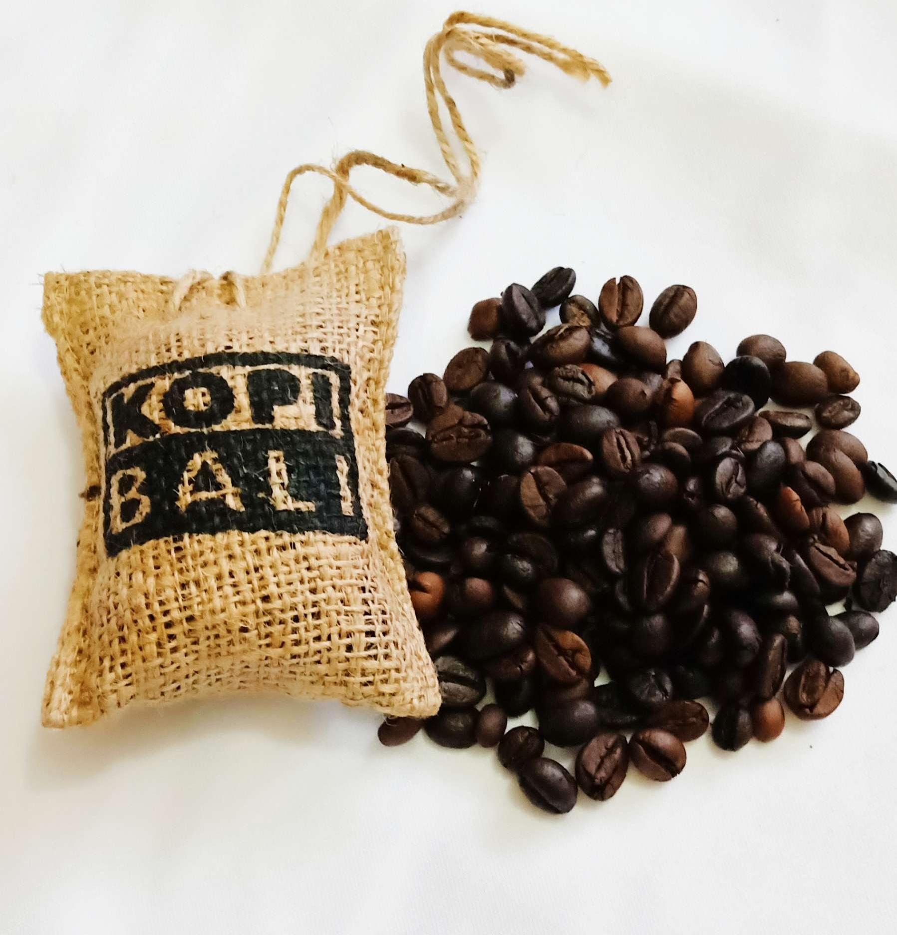 New!100% ORIGINAL Kopi Bali (20g) Pewangi Kereta Pengharum Mobil Penyerap Bau Hapak Biji Kopi Organik Coffee Bean