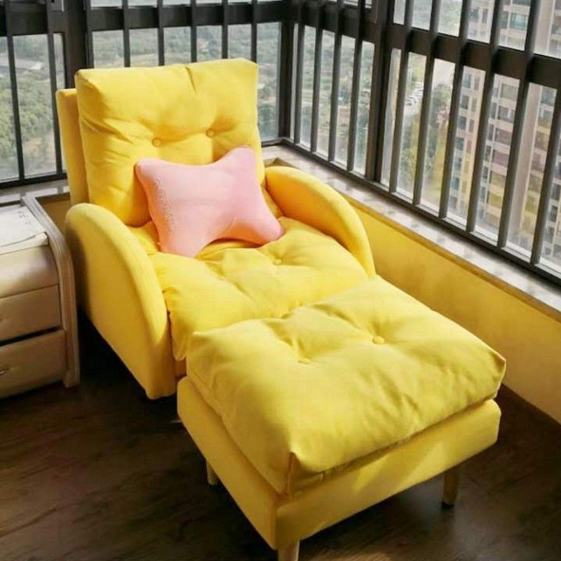 Lazy Sofa Tatami Single Balcony Leisure Lounge Chair Living Room Bedroom Small Sofa Small Apartment Folding Back Chair Shopee Malaysia