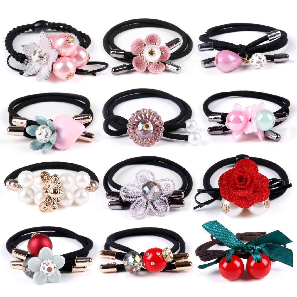 100PCS Lots Cute Kids Girl Elastic Tiny Hair Tie Band Rope Ring Ponytail Holder☆