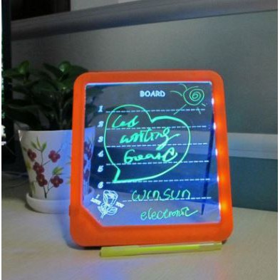 Writing Drawing Light-Up LCD Memo Glow Message Boards LED Handwriting Board Fluorescent Plate