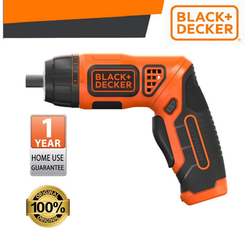 BLACK & DECKER PLR3602-XD 3.6V LI-ON CORDLESS SCREWDRIVER 1/4 TWIST SCREWDRIVER WITH 10PCS BITS SAFETY ESAY 200RPM 1.5Ah