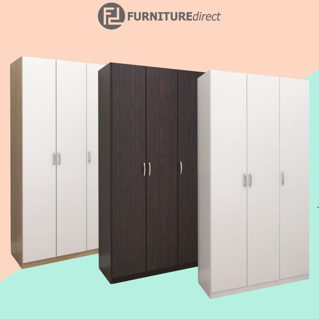 [ READY STOCK] Furniture Direct 3 Door Wardrobe/ almari baju 3 pintu/ kabinet baju