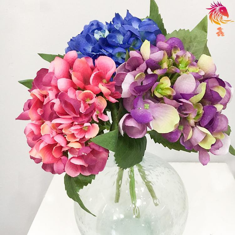 Artificial & Dried Flowers Artificial Decorations Have An Inquiring Mind Artificial Flowers Hydrangea Simulation Bouquets Bubble Wedding Dress Handicrafts Decoration Flower Xk Latest Fashion