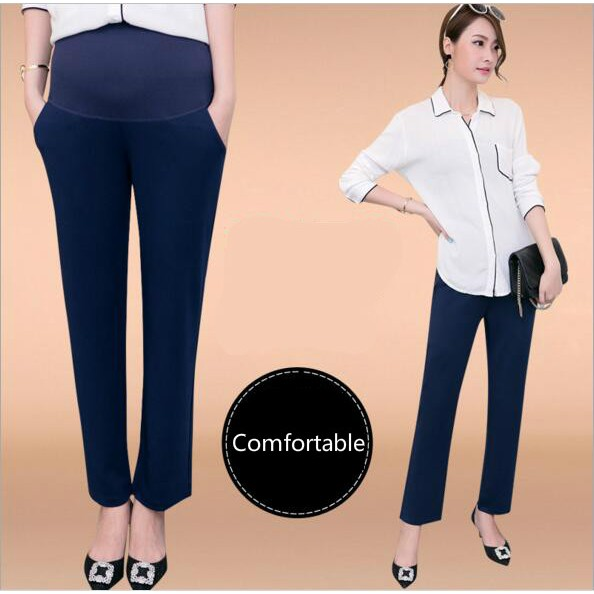 7c939439d8b  Ready Stock💋 Women Pregnancy Straight Pants OL Style Maternity Wear YL253