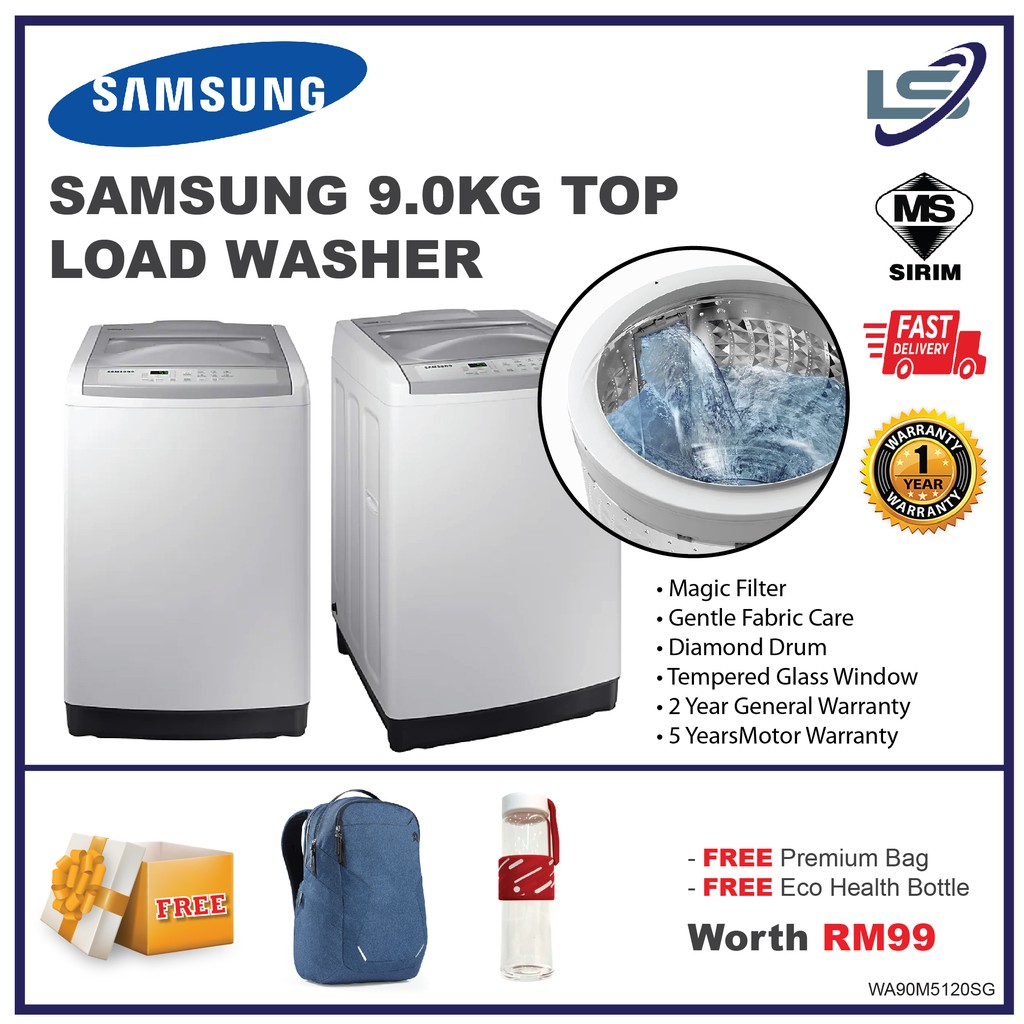Samsung 9kg Top Load Washer With Magic Filter Wa90m5120sg Fq Shopee Malaysia