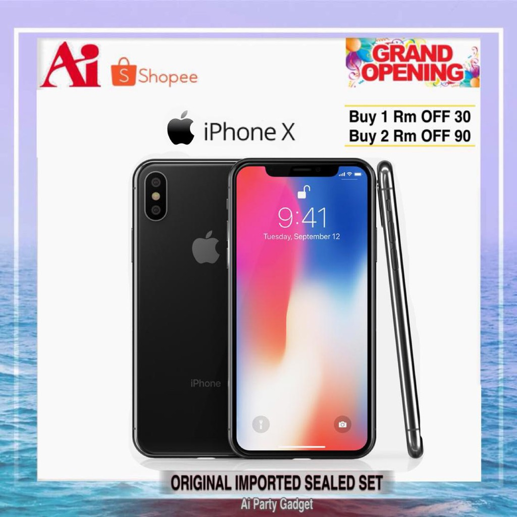 Apple Iphone X 5 8inch 256gb 64gb New Full Set Original Seal Box Special Gifts