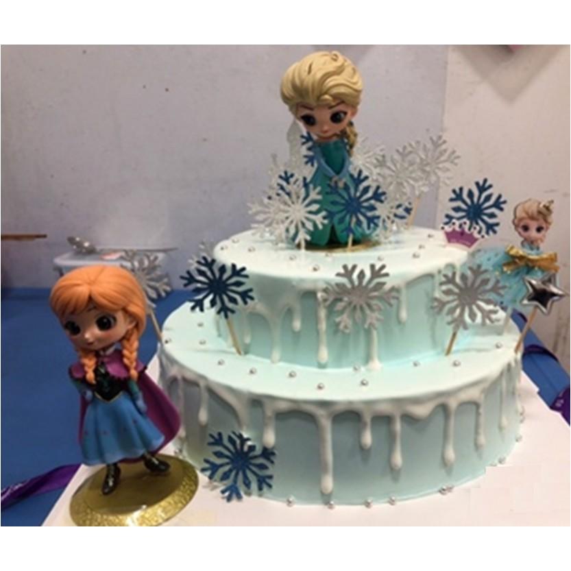 Brilliant Ready Stockdiy Cute Elsa Anna Frozen Birthday Cake Display Funny Birthday Cards Online Inifodamsfinfo