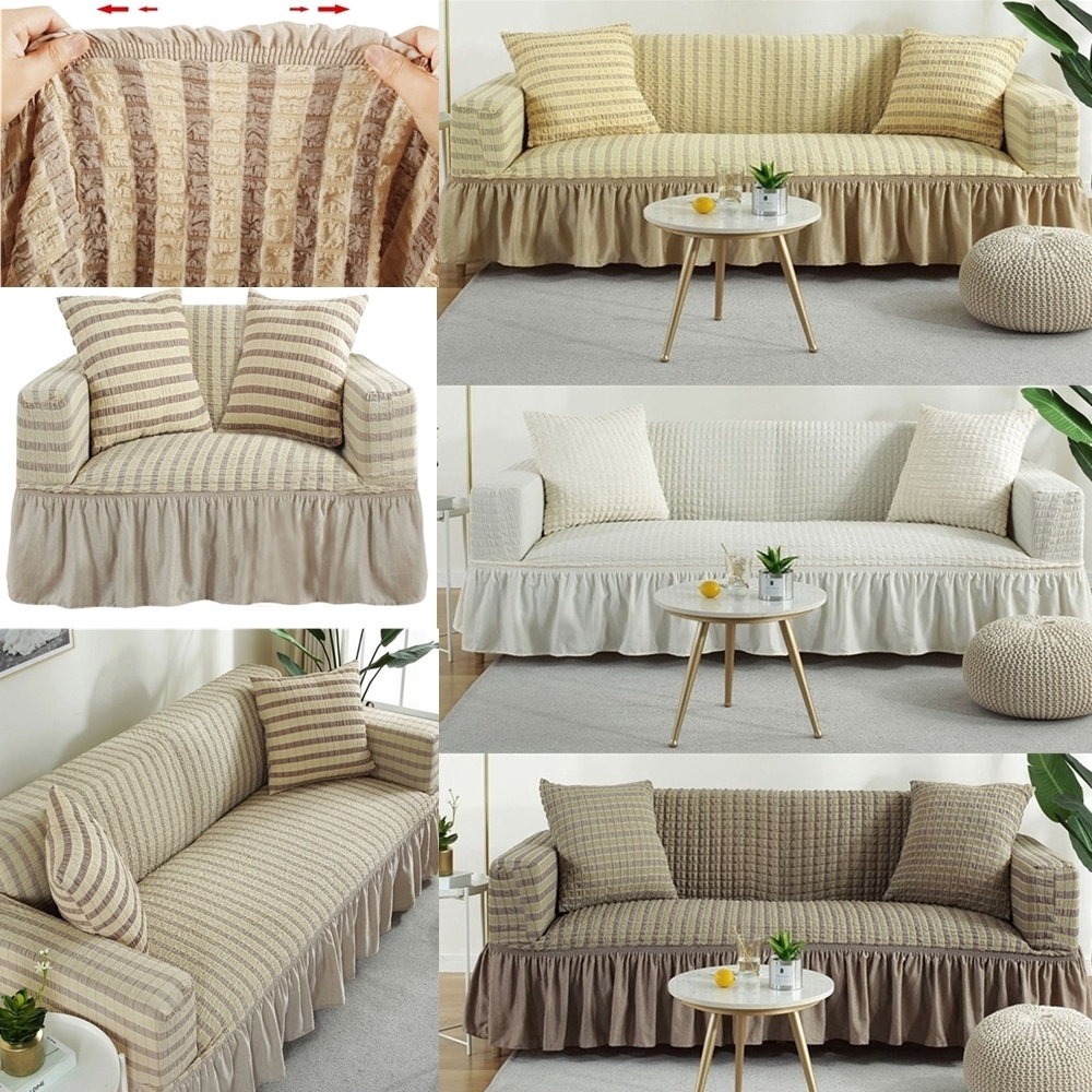 3 Seater Soft Fabric Sofa Cover Couch