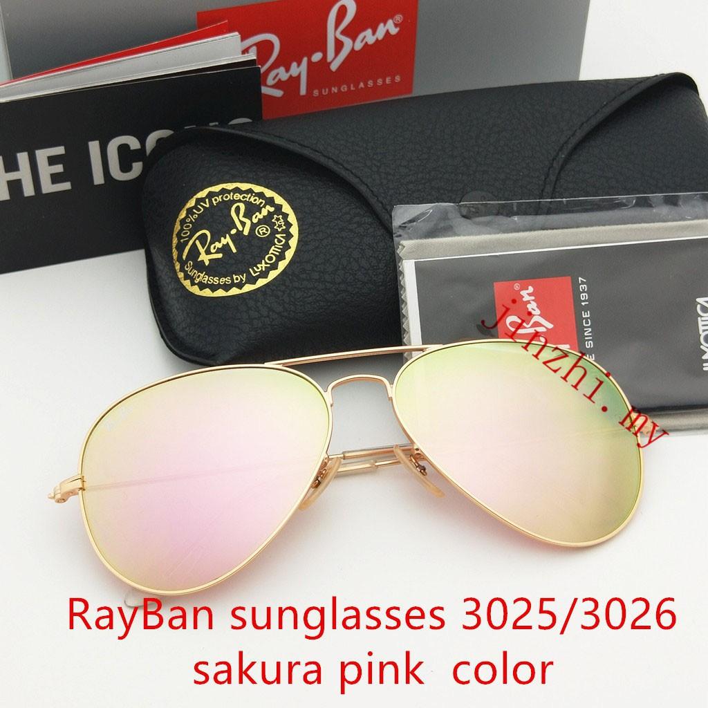 67669a4b4f76 Aviator Metal Sunglasses 3025 3026 Women Pink Glass Lens
