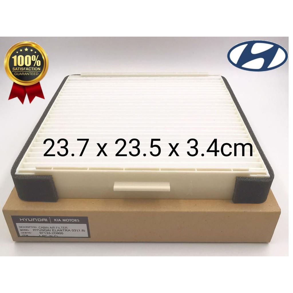 CAFHCCHELA0318 - HYUNDAI ELANTRA '03 1.8 CABIN AIR FILTER ( PC ) 97133-2D900