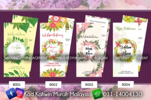 Kad Kahwin Murah Malaysia Wedding Card Kad Jemputan Birthday