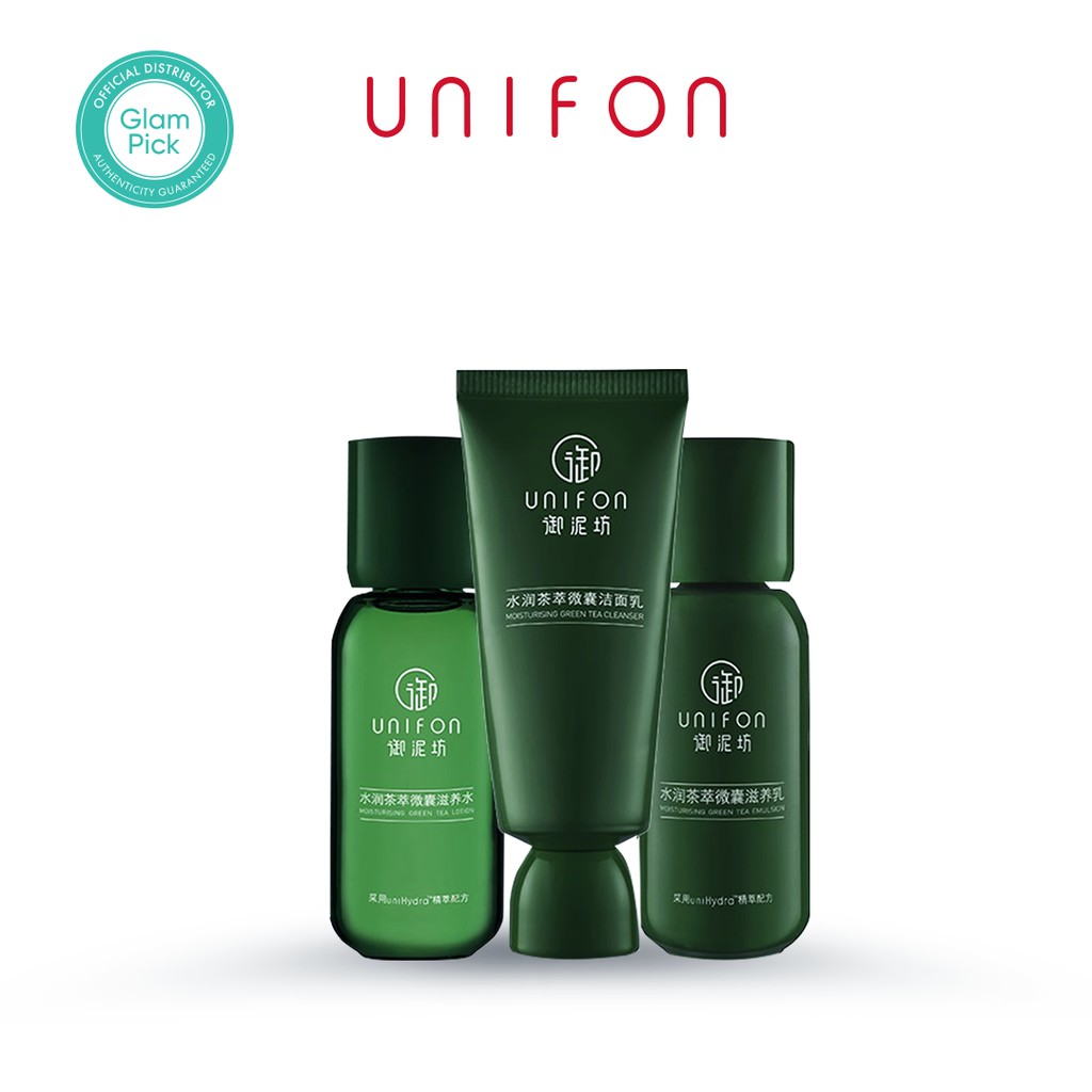 UNIFON Moisturizing Green Tea Set 3-in-1  Travel Set