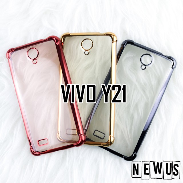 Vivo Y21 Anti Shock Chrome Color Tpu Soft Case