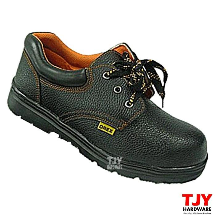 High Quality OREX Steel Toe Cap Mid Sole Low Cut Safety Shoe Shoes Kasut Kerja Besi Selamat (Black)
