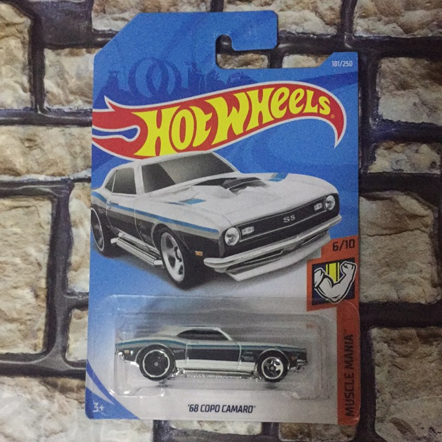 Hot Wheels 2019 Muscle Mania 6//10 White 68 Copo Camaro 181//250