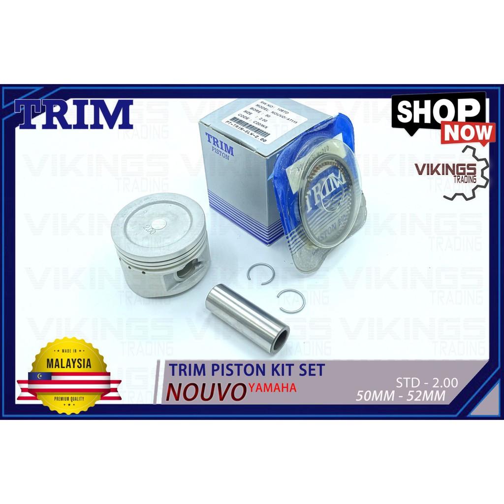 NOUVO AT115 EGO TRIM MALAYSIA PISTON + RING + PIN + CLIP PISTON KIT SET STD-200
